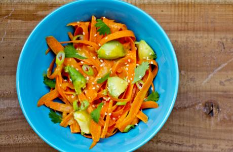 carrot avo salad